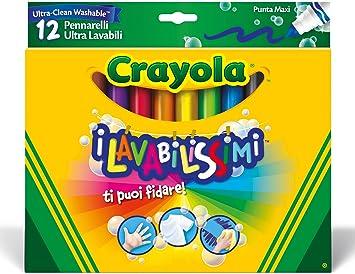 Punta Maxi Crayola I Lavabilissimi Pennarelli Ultra-Lavabili 12 Pezzi