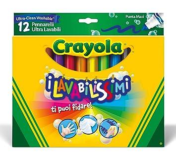 Feutre A Coloriage En Anglais.Crayola 58 8329 E 000 12 Feutres A Colorier Ultra Lavable