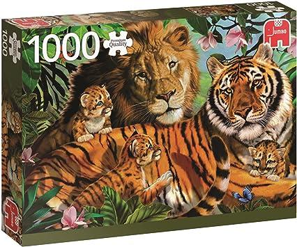 Jumbo- Wild Cats pcs Gatos Salvajes, Puzzle de 1000 Piezas ...