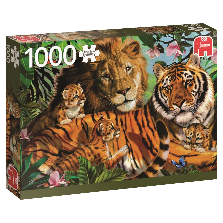 Jumbo Wild Cats pcs Gatos Salvajes, Puzzle de 1000 Piezas ...