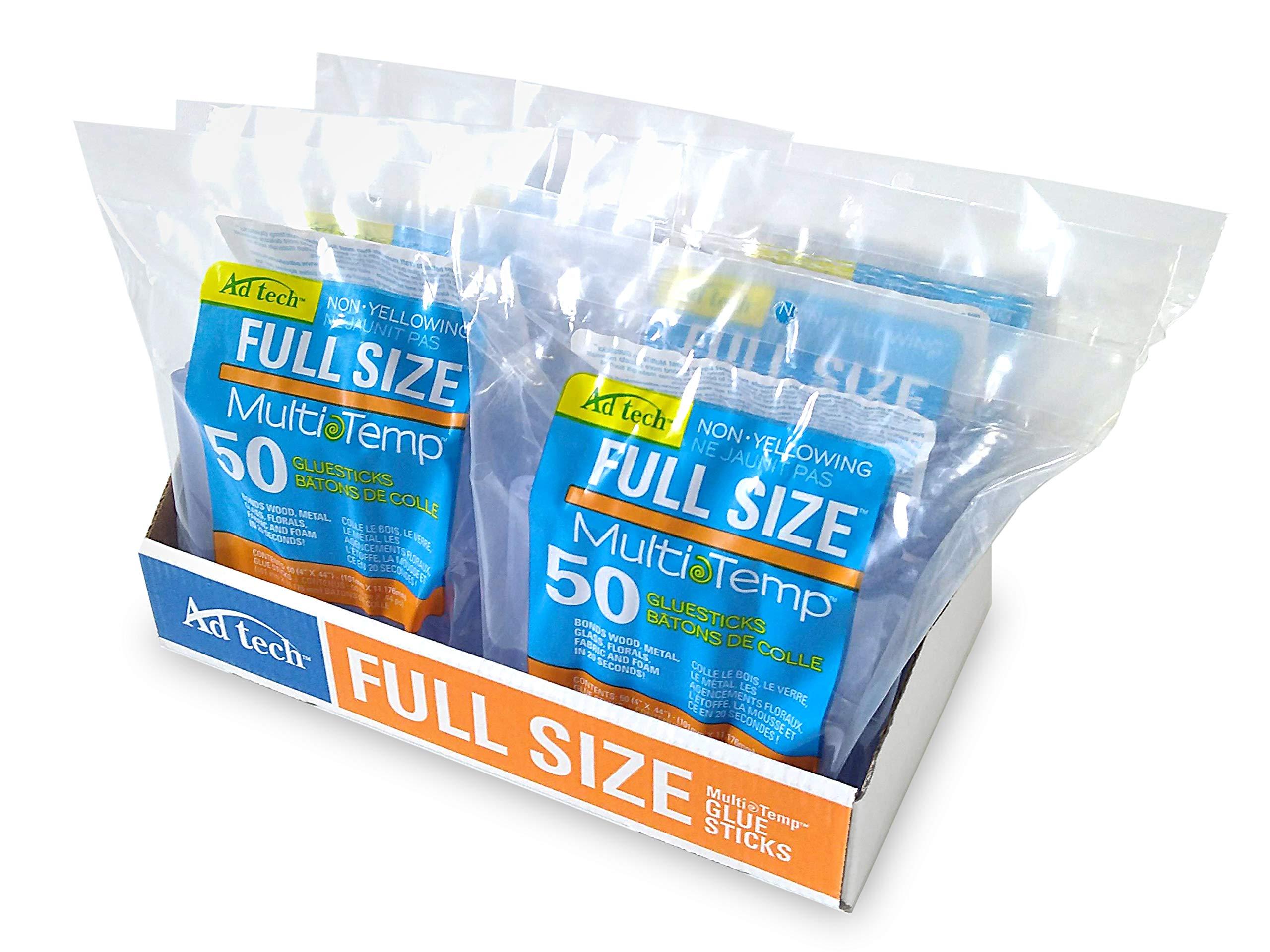 AdTech 14ZIP50-CASE Full Size Multi Temp Clear Bulk Glue Sticks, 4 inch length, 300 Pieces