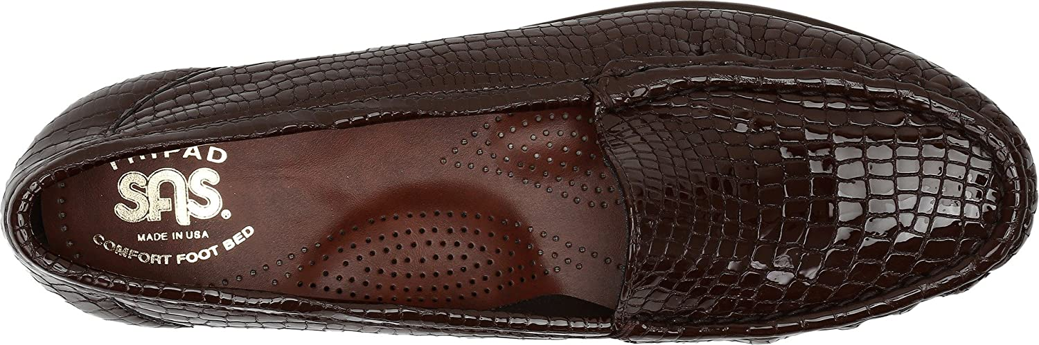 SAS Simple Women's Slip On Leather Loafer B01MG1YCLZ 9.5 US|Brown S - Slim (AAA) US|Brown 9.5 Croc 9411c1