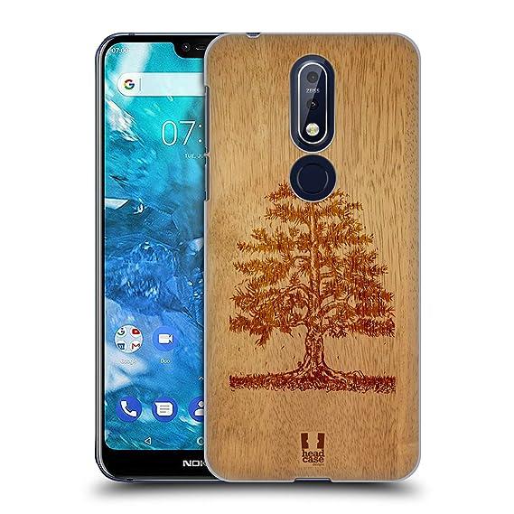 buy popular df90f b4b9f Amazon.com: Head Case Designs Tree Wood Art Hard Back Case for Nokia ...