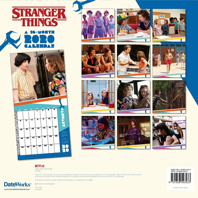DANILO Calendario 2020 Stranger Things, 30 x 30 cm: Amazon.es ...