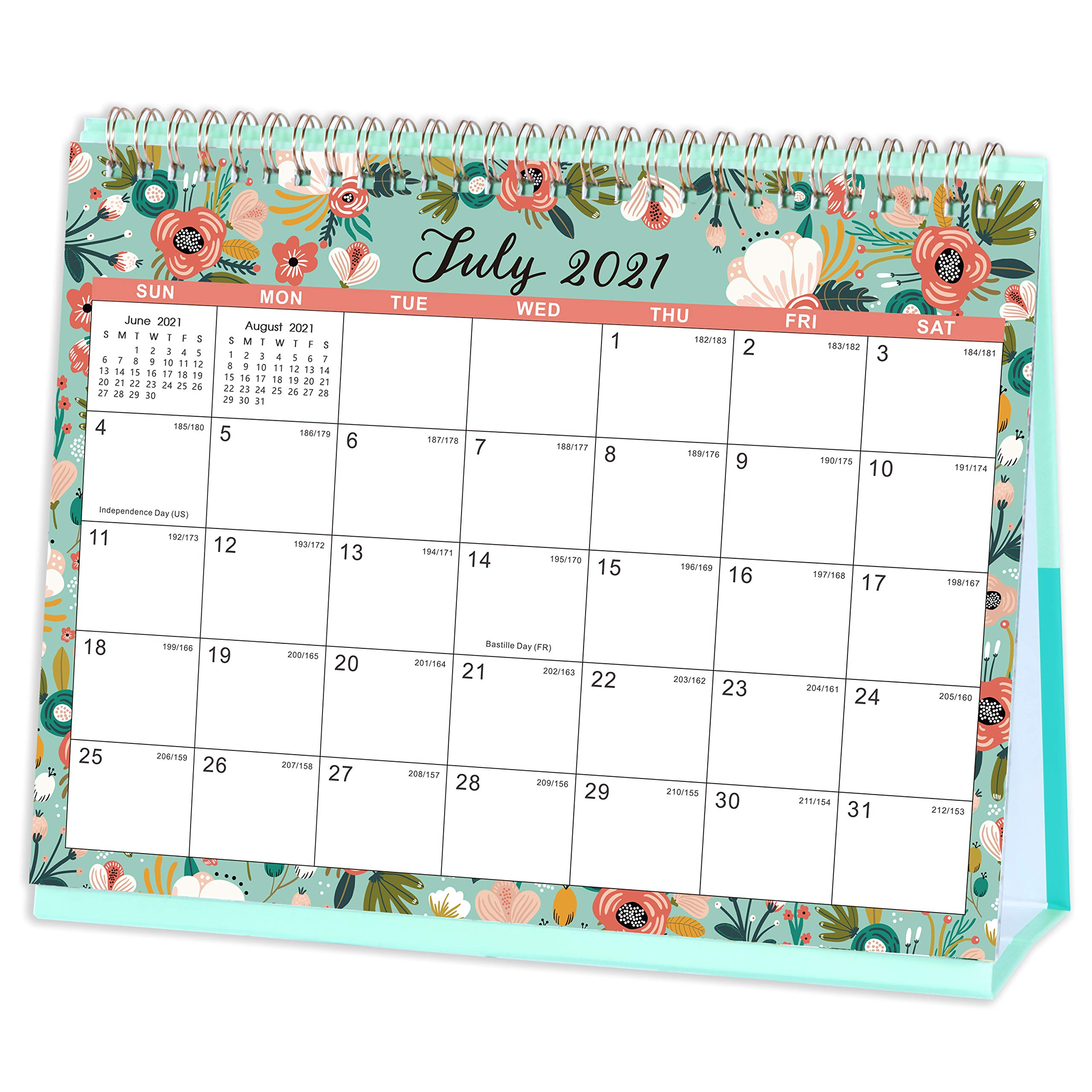 2022 Desktop Calendar.2021 2022 Desk Calendar Calendar 2021 2022 Desktop Calendar Generous Memo Lined Pages With Thick Paper July 2021 December 2022 10 X 8 3 Stand Up Desk Calendar With Strong Twin Wire Binding Buy
