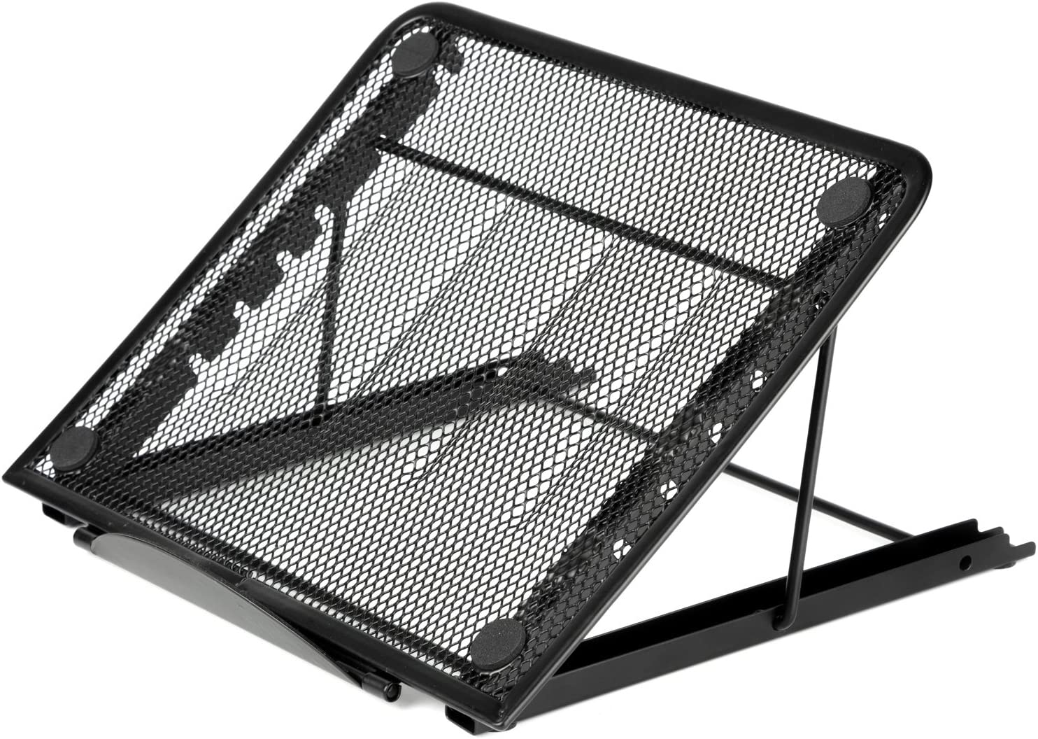 Halter Mesh Ventilated Adjustable Laptop Stand for Laptop/Notebook/iPad/Tablet and More - Black