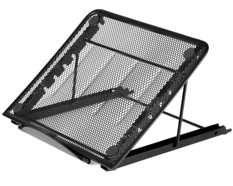 Halter de malla con ventilación ajustable soporte para portátil HALADJLAPSTAND