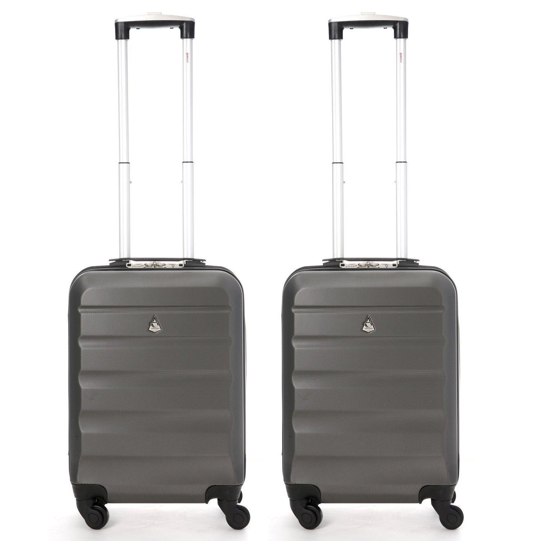 Aerolite Maleta de equipaje de mano de plástico ABS con carcasa rígida