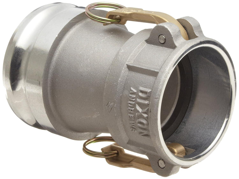 "Dixon 3020-DA-AL Aluminum Cam and Groove Reducing Hose Fitting, 3"" Socket x 2"" Plug"