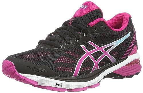 Asics Gt 1000 5 Scarpe Running Donna Nero Black/Sport Pink/Aruba Blue 37 EU