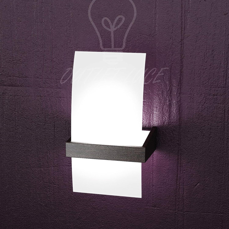 Lampada da parete applique top light modello 1019/ap w wenge ...