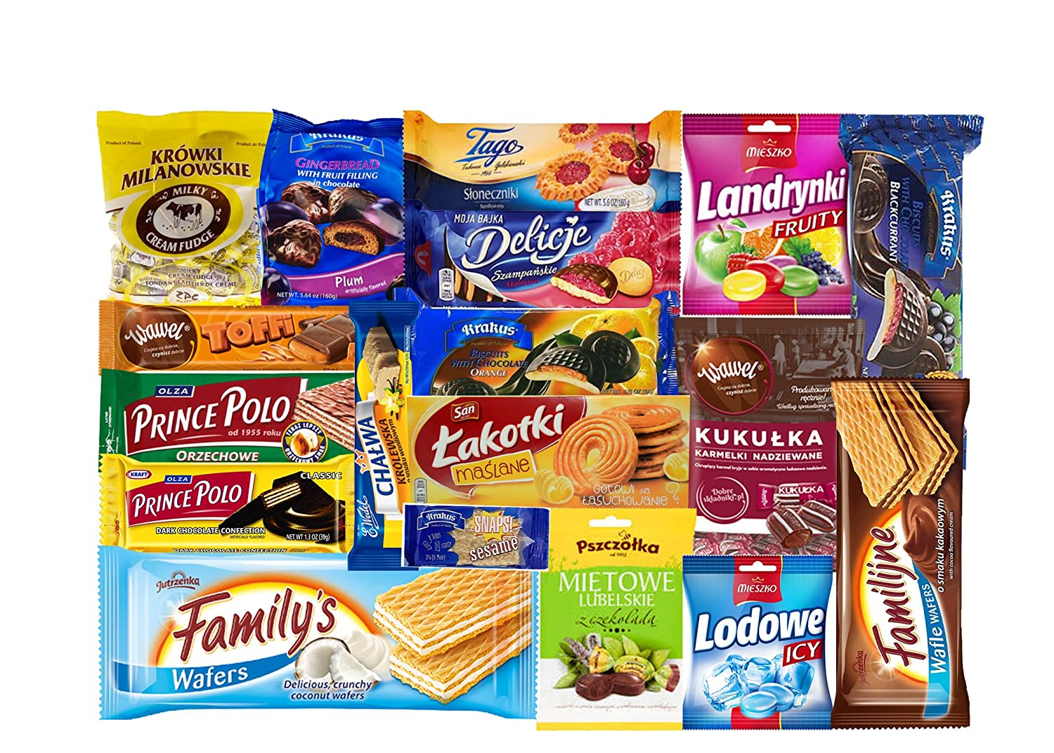 TASTE OF POLAND SWEET BOX Packing by Granda 3.5 lb TRADITIONAL POLISH SWEETS, 10 COUNT
