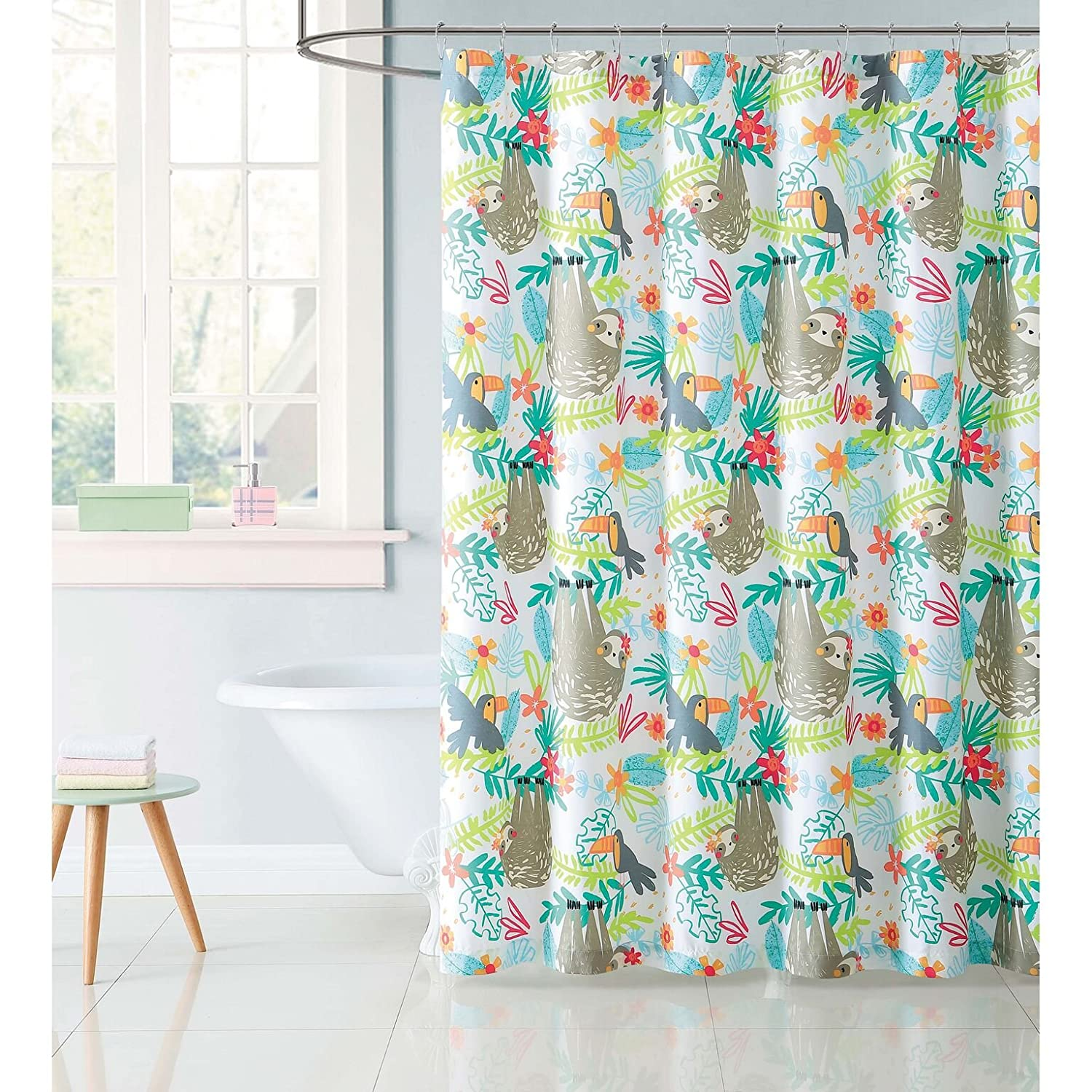 Amazon My World Shower Curtain Hanging Out Home Kitchen