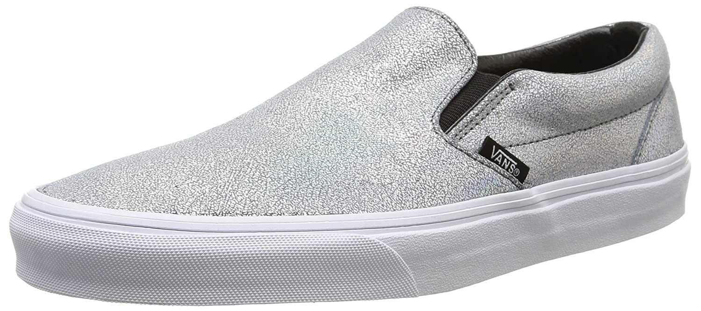 Vans U Classic Slip-on Unisex-Erwachsene Sneakers  36.5 EU Mehrfarbig (Matte Iridescent/Silver)