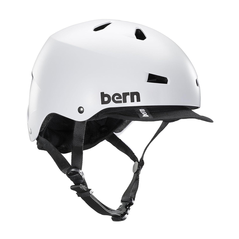 bern(バーン) ヘルメット ヘルメット MACON VISOR メンズ 自転車 スケートボード BE-VM2BHSWTV-05 Satin White XL   B01FSZVIDY