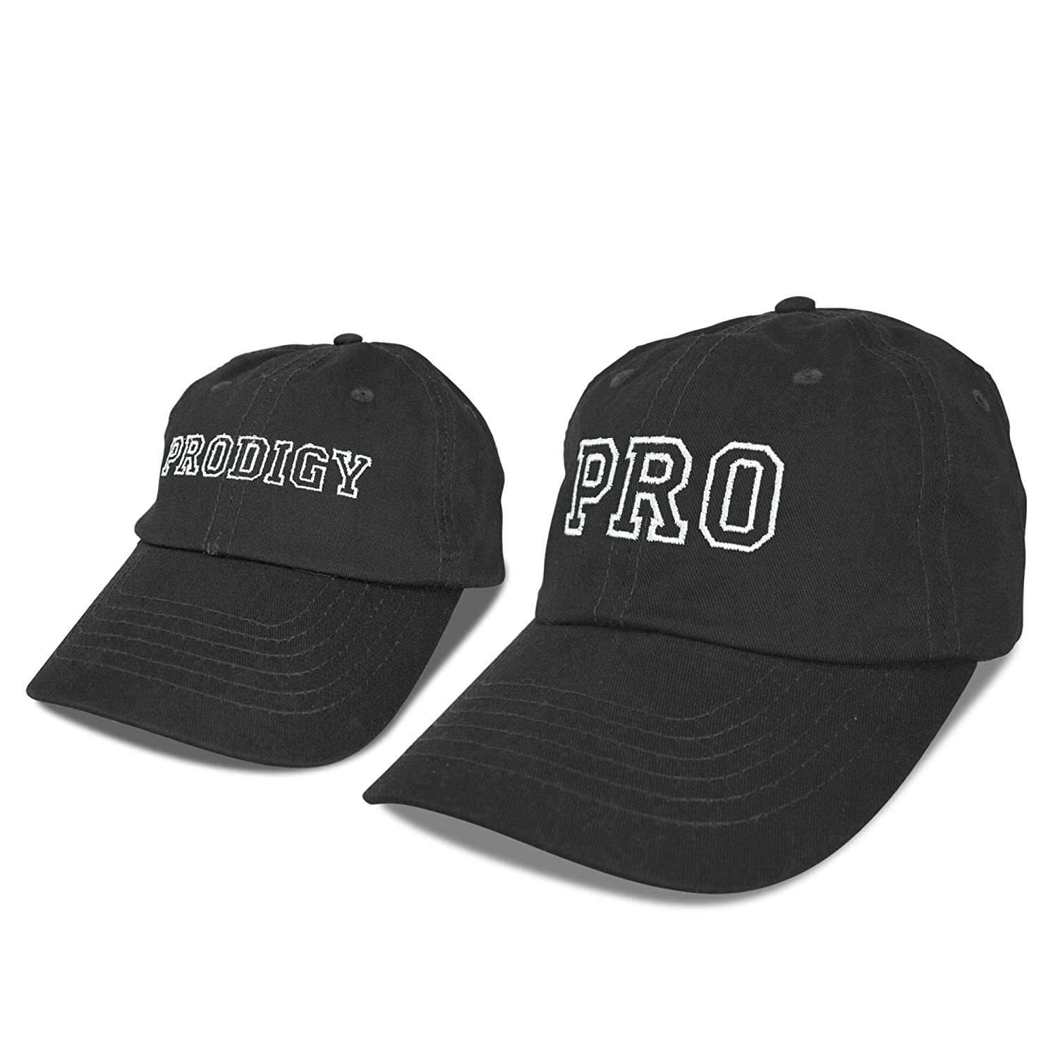 DALIX Father Son Hats Dad and Son Matching Caps Embroidered Pro Prodigy  Black at Amazon Men s Clothing store  7b7266a0e65