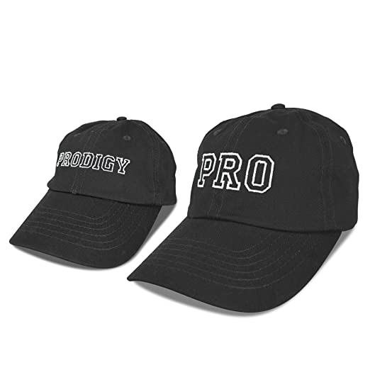 DALIX Father Son Hats Dad and Son Matching Caps Embroidered Pro Prodigy  Black 7d20435d2527