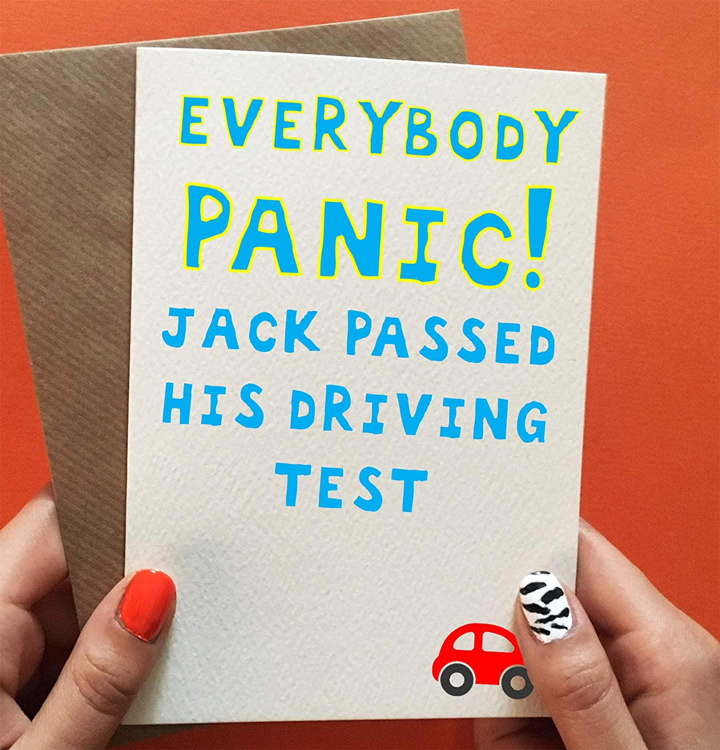 Funny Passed Driving Test Card Personalised
