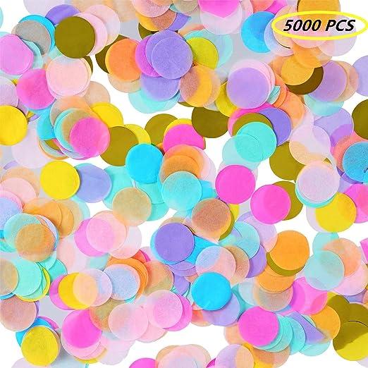 1 Pulgada Confeti de Papel de Seda Redondo Multicolor para ...