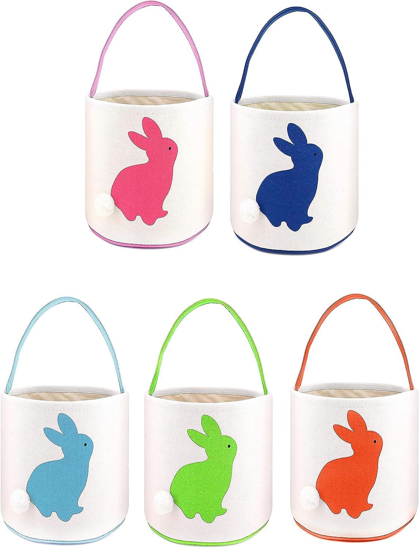 Set of 4 Felt Basket Party Easter Basket Easter Egg Hunt Kids Basket Handle