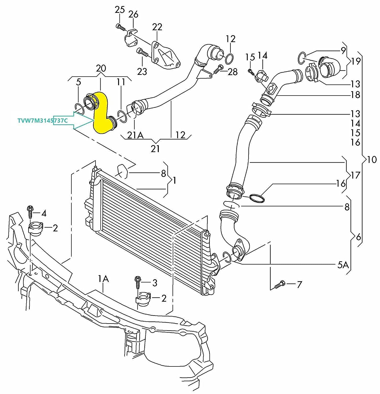 Para Sharan/Alhambra 1.9/Galaxy/Fabia 1.9 TDI 1.9 TDI manguera de Intercooler Tubo Turbo 7 m3145737 C, 7 m3145737b: Amazon.es: Coche y moto