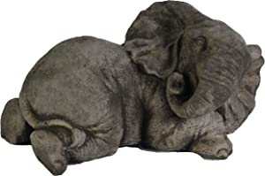 Fleur de Lis Garden Ornaments LLC Elephant Lay Down Cement Outdoor Figure African Statue