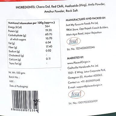 Place Of Origin Lal Mirch Chana Malai Set Of 2 150 Gm Each