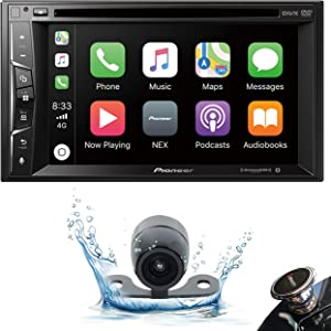 "Pioneer AVH-1500NEX Double DIN Apple CarPlay in-Dash DVD/CD/AM/FM Car Stereo Receiver w/ 6.2"" Touchscreen + Backup Camera + Gravity Phone Holder"