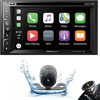 Pioneer AVH-1500NEX Double DIN Apple CarPlay in-Dash DVD CD AM FM Car Stereo Receiver w 6.2 Touchscreen Backup Camera Gravity Phone Holder