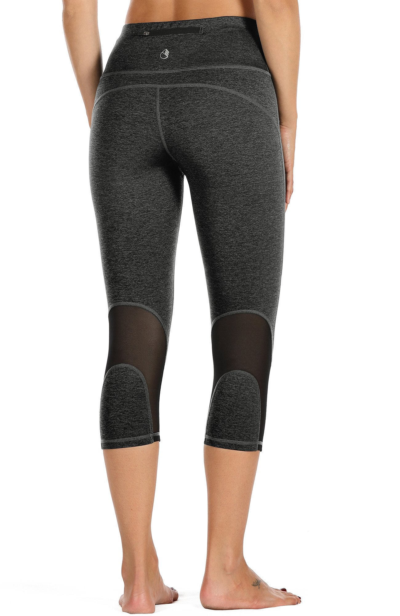 icyzone Yoga Pants for Women - High Waisted Workout Leggings, Activewear Athletic Capris Exercise Tights(Charcoal, M) by icyzone
