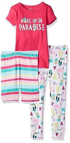 c5f515d3c Carter's Girls' Toddler 3-Piece Cotton Pajamas, Paradise, ...