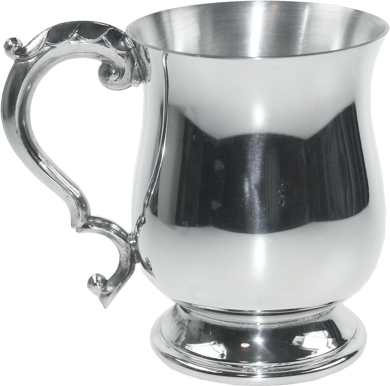 Wentworth Pewter - Georgian Style Pewter 1 Pint Tankard, Beer Mug, Dad, Wedding, Birthday, Christmas Gift