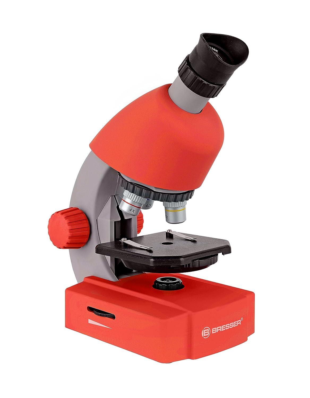 Bresser Junior Microscopio 40x-640x rosso 8851300E8G000