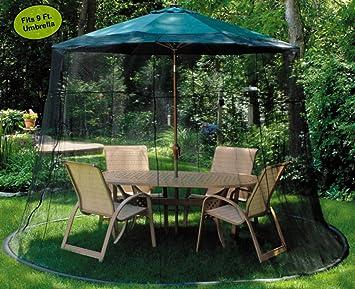 Mesh Mosquito Net Enclosure   Fits Over A 9u0027 Patio Umbrella
