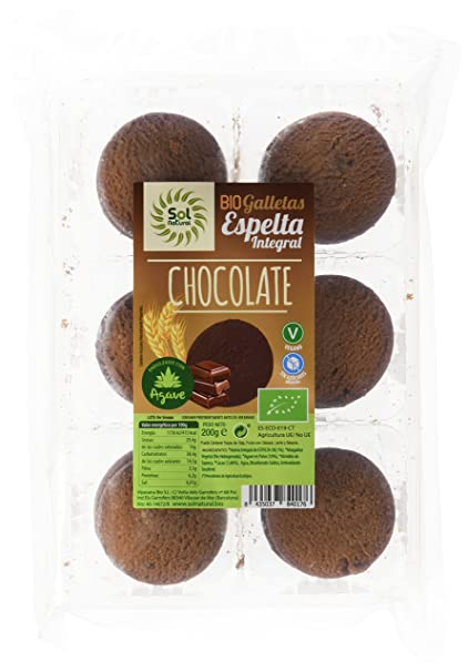 Sol Natural 700901, Galletas de Espelta y Chocolate, con ...