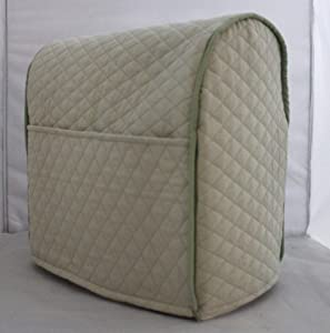 Simple Home Inspirations Quilted Cover Compatible for KitchenAid Stand Mixer, Piped with 2 Pockets (Sage, Mini)