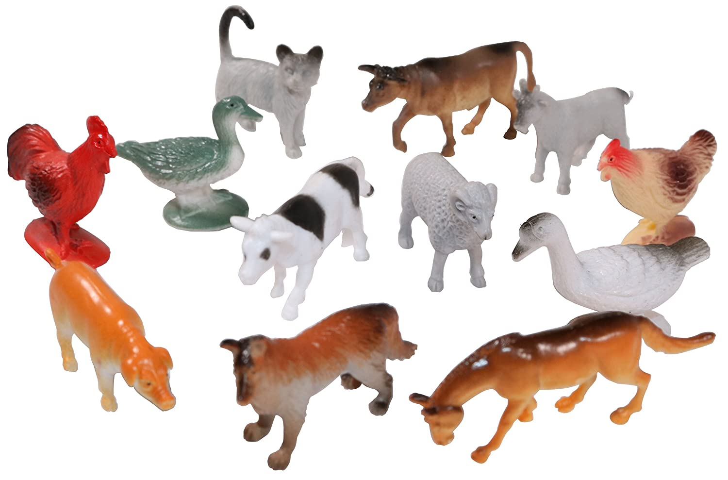 24 Small Set of Farm Animal/'s Size 2 Inch