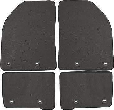 Nylon Carpet Black Coverking Custom Fit Rear Floor Mats for Select Dodge Models