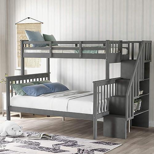 Merax Stairway Bunk Beds Twin Over Full