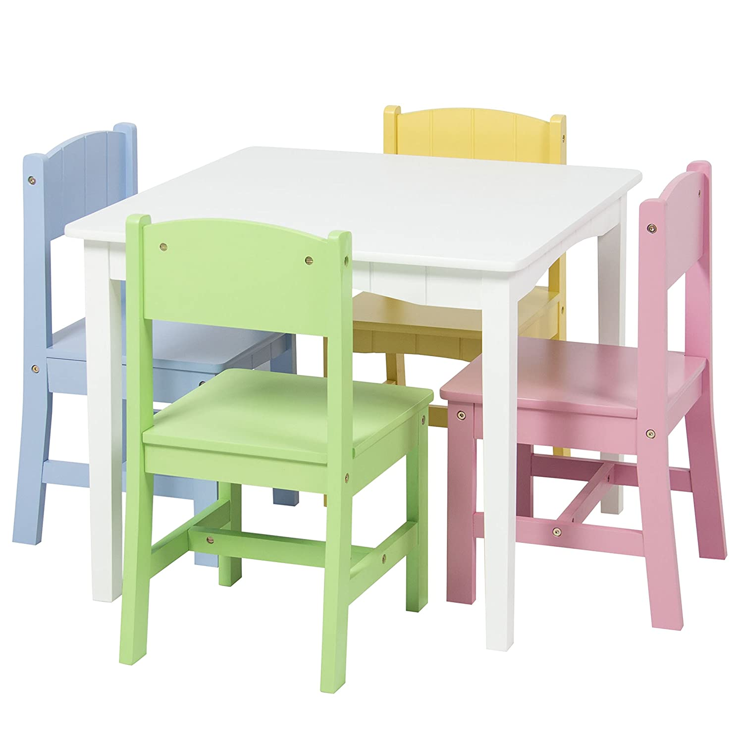 Amazon Best Choice Products Wooden Kids Table And 4 Chairs