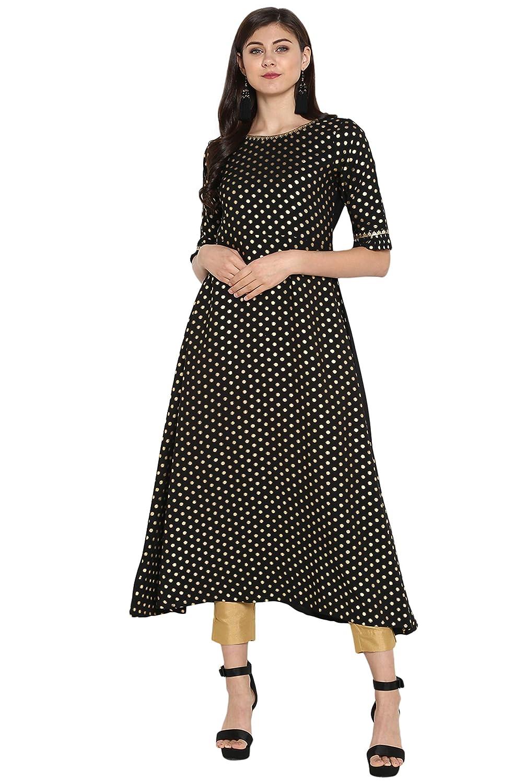 Janasya Indian Tunic Tops Crepe Kurti Set for Women