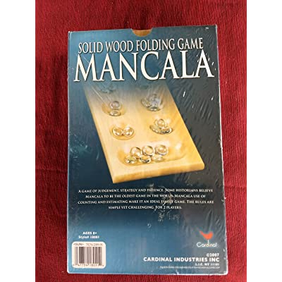 Mancala Solid Wood Folding Game By Cardinal Family Game Oldest Game In World: Home & Kitchen