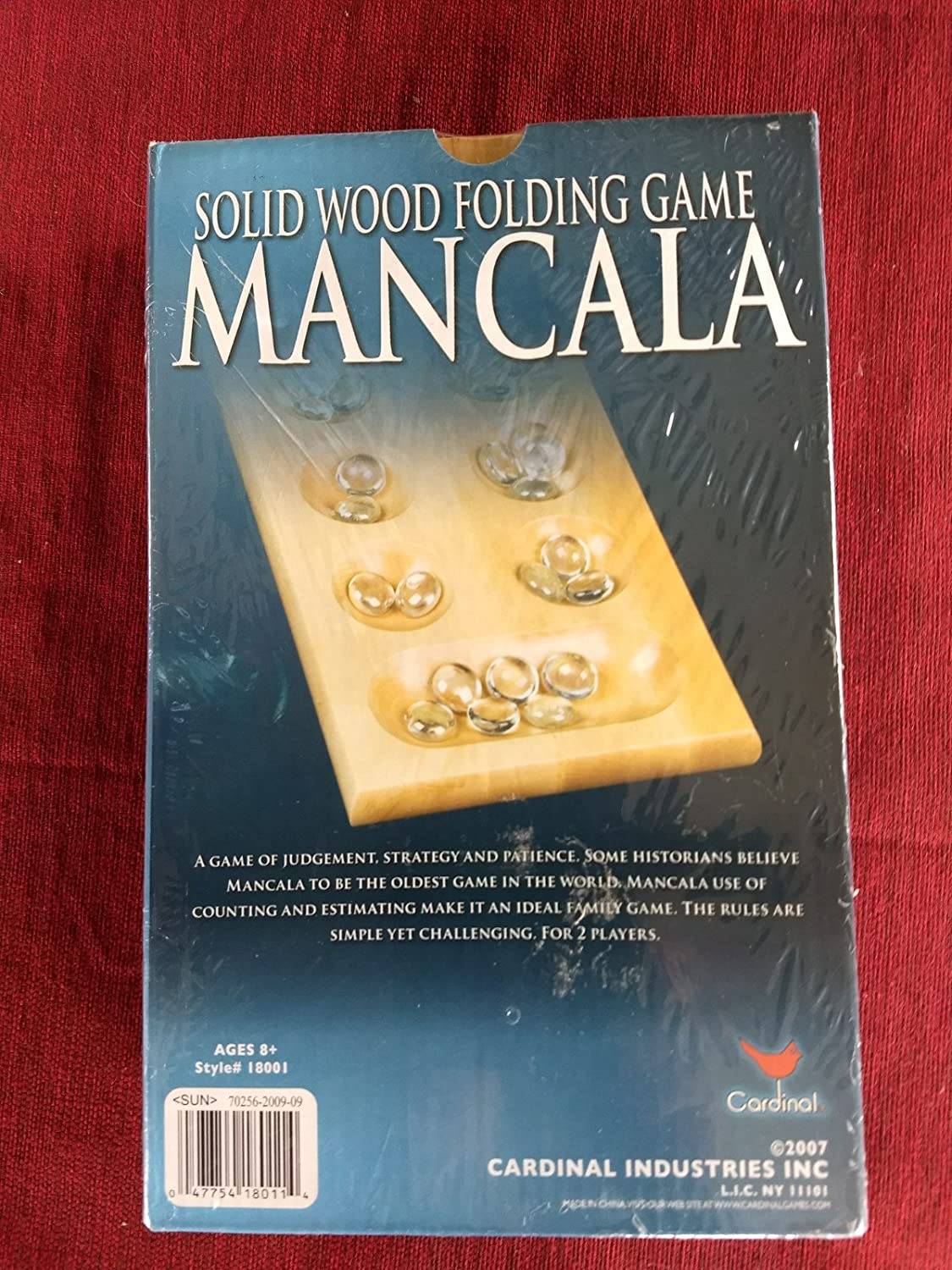 Mancala Solid Wood Folding Game By Cardinal Family Game Oldest Game In World 6109631