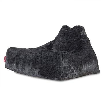 d1c4b3bbd3de Lounge Pug® - MEGA LOUNGER - Fluffy FAUX FUR - GIANT Bean Bag Chair ...