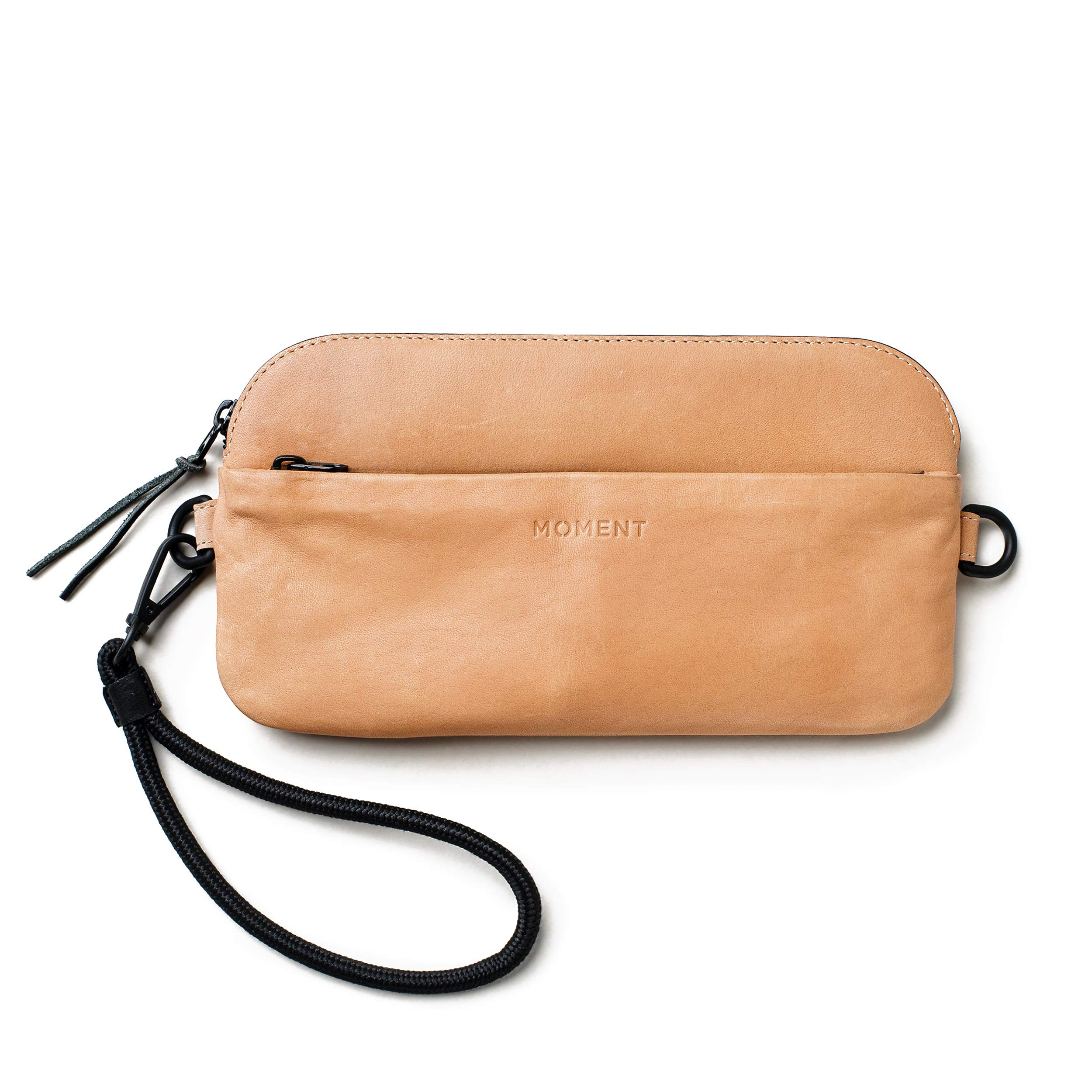 Moment - Natural American Leather Wristlet - Carry your iPhone, Wallet, and Lenses.