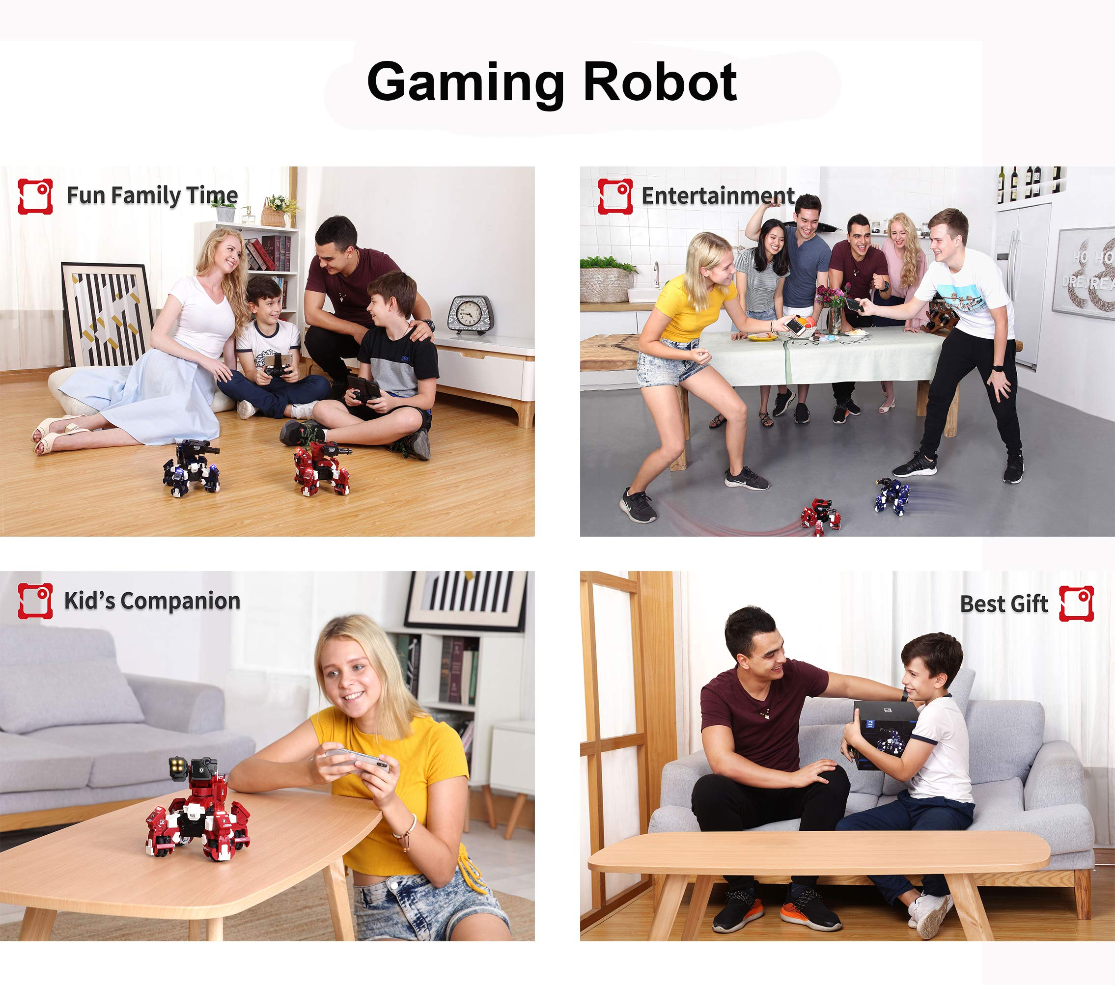 GJS Robot - GEIO Gaming Robot, App-Connected Program Robotic, STEM Educational Robots for Kids to Learn Coding, 8 Modes in 1(Blue) by GJS Robot (Image #6)