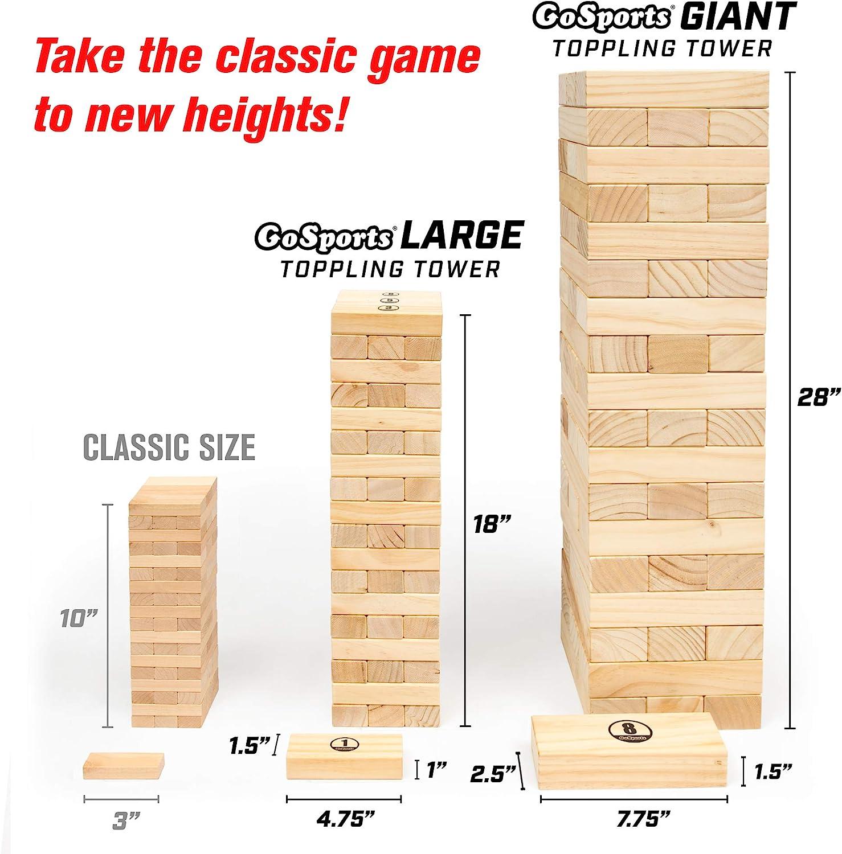 GoSports Gigante derribar Torre con Bono Normas: Amazon.es: Deportes y aire libre