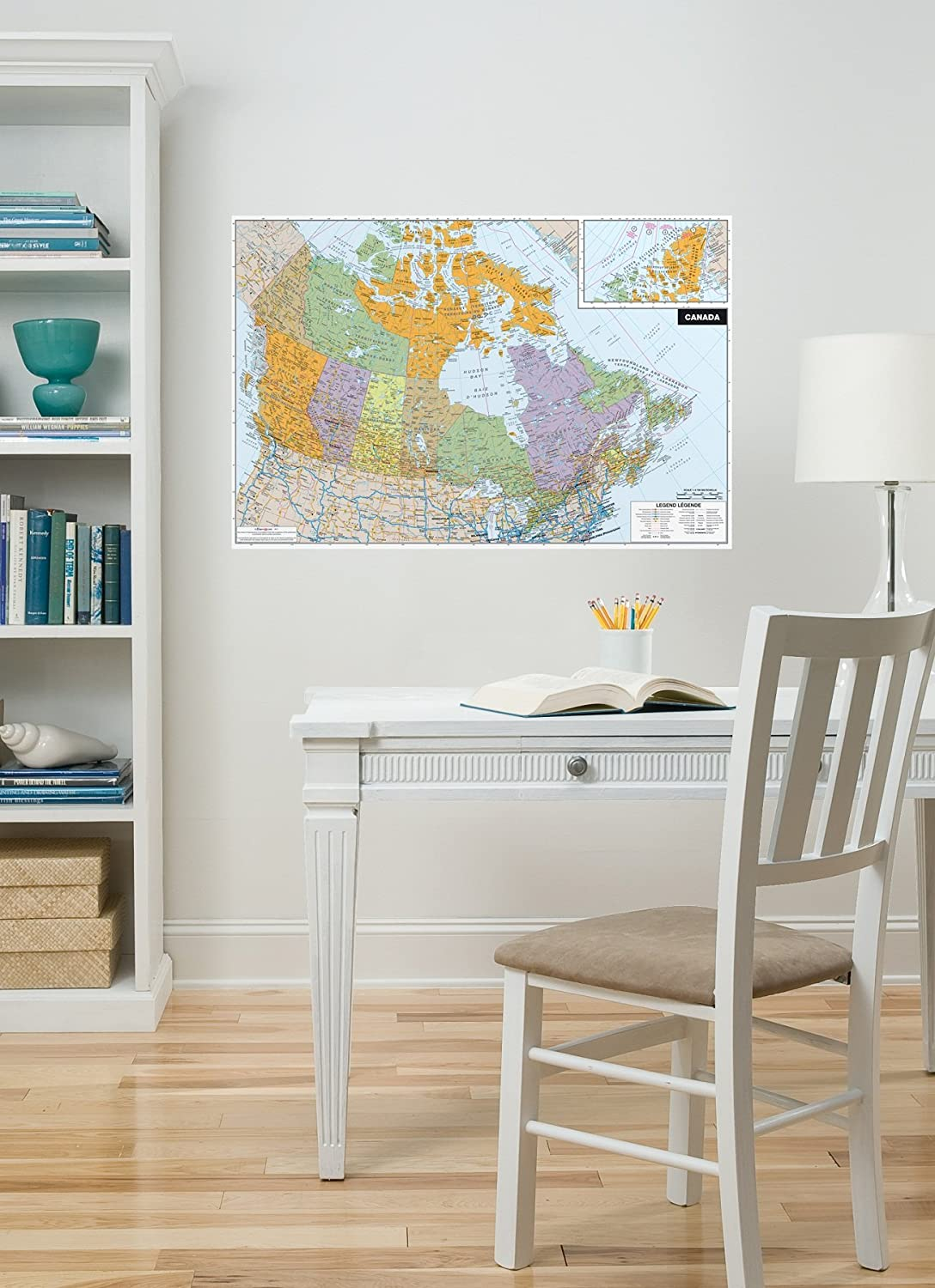 WallPops WPE0255 Canada Peel And Stick Dry Erase Map, Wall Stickers U0026  Murals   Amazon Canada Part 64