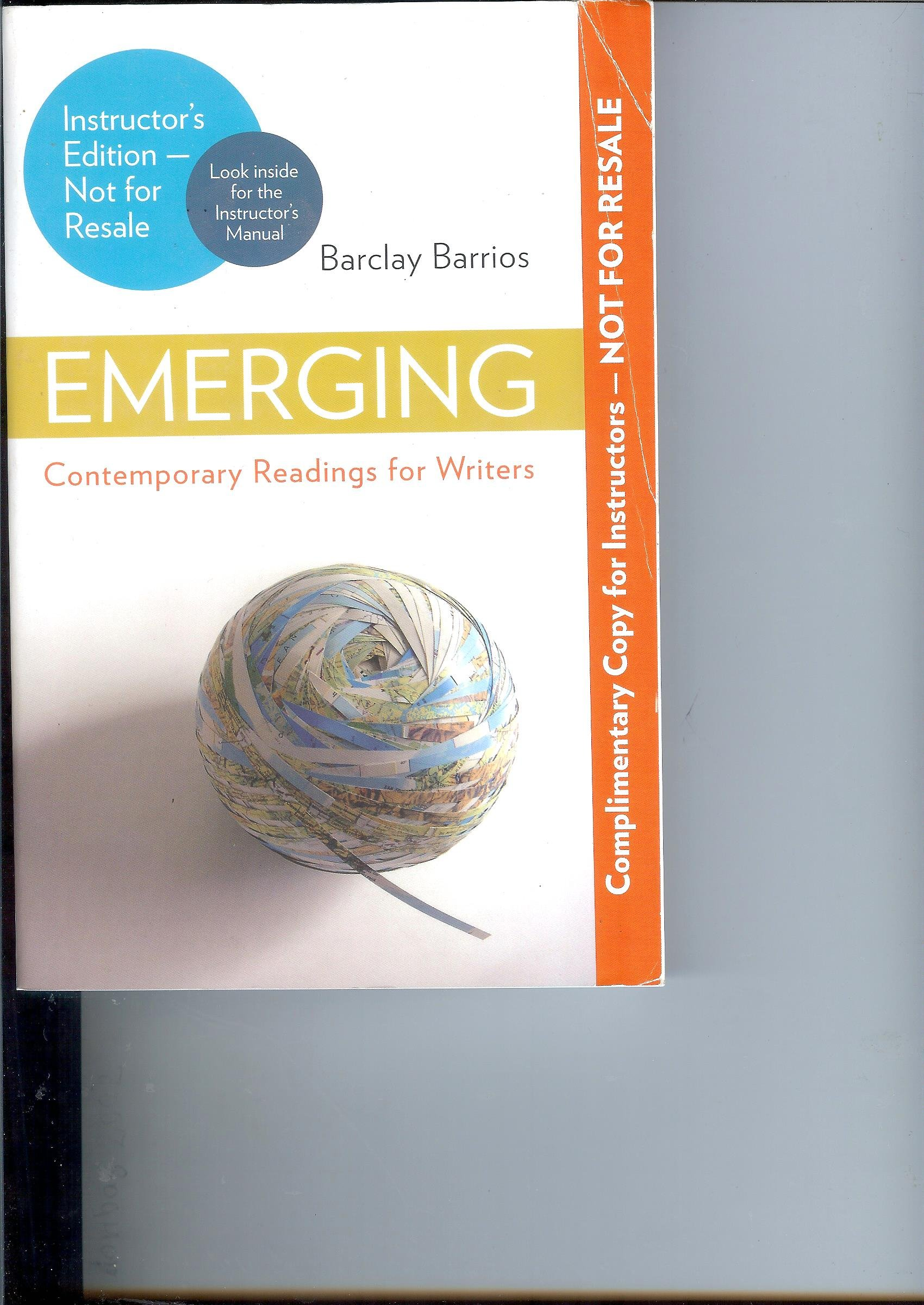 Emerging: Contemporary Readings for Writers, Barclay Barrios