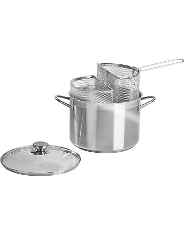 Barazzoni - Olla para Espaguetis con Doble Cesta, 24 cm de diámetro, Acero Inoxidable